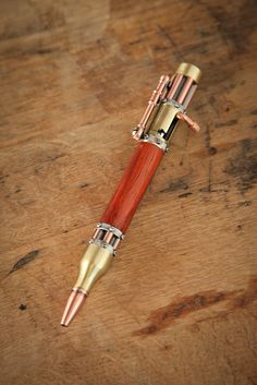 Hand Crafted Bolt Action Steampunk Pens