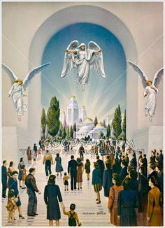 Thursday, March 28 John now describes the capital of the new earth, the New Jerusalem. While a real place inhabited by real people,. City Of God, Bible Pictures, Jesus Pictures, Religious Pictures, Kingdom Of Heaven, The Kingdom Of God, Heaven Art, Revelation Bible, Jesus Christ Images