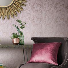 home decor wallpaper Bedroom Wallpaper Texture, Blush Wallpaper, Home Wallpaper, Wallpaper Designs, Metallic Cushions, Blush Cushions, Wallpaper Please, Pastel Colour Palette, Tropical Wallpaper