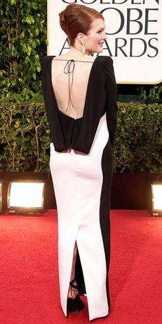 Julianne Moore #goldenglobes #redcarpet
