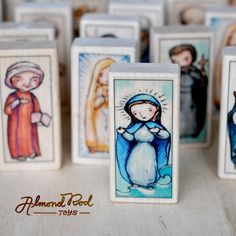 Mary, Our Lady Star of the Sea Patron Saint Block // Stella Maris // Catholic Toys by AlmondRod Toys Fulton Sheen, Lady Of Lourdes, Lady Of Fatima, Catholic Saints, Patron Saints, Akita, Elmo, Miraculous, Anastasia