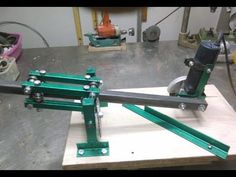 ANGLE GRINDER STAND You can watch how to make an easy accessory for your angle grinder. Using the right disc you can easily cut every kind of Metal Working Tools, Metal Tools, Metal Projects, Welding Projects, Cool Tools, Diy Tools, Angle Grinder Stand, Mechanical Engineering Design, Belt Grinder