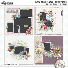 Snow Snow Snow | Quickpages by Akizo Designs - for Digital Scrapbooking Layout