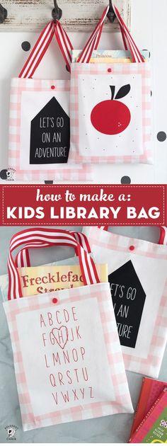 b68bb001000a Cute   Simple Kids Library Bag Pattern
