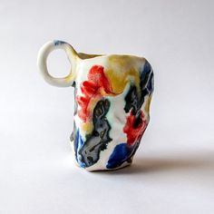 Cup ceramic vessel of tea mug It' s only a storm in a teacup pottery artist Adam O'Reilly Pottery Mugs, Ceramic Pottery, Pottery Art, Glass Ceramic, Ceramic Clay, Tassen Design, Ceramic Workshop, Turbulence Deco, Contemporary Ceramics