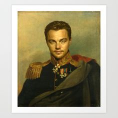 Art Print featuring Leonardo Dicaprio - replaceface