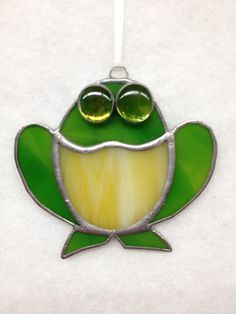 Stained Glass Ornament Frog by MamaAgees on Etsy