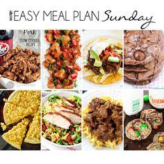 Easy Meal Plan Sunday {Week 8}