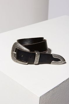 Slide View: 5: Ecote Metal-Tipped Leather Belt