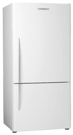 A refrigerator for tight spaces - Fisher Paykel curved door - Retro Renovation Retro Refrigerator, Retro Fridge, Counter Depth Refrigerator, Top Freezer Refrigerator, Retro Renovation, Chrome Handles, Fisher, Cool Designs, Kitchen Appliances