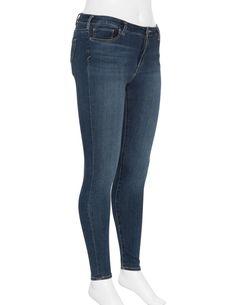 Silver Jeans Elastische Wash-Out-Denim in Blau