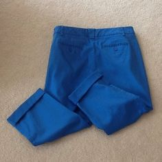 Cute Blue Stretch Capris❤️SUNDAY SALE❤️ Cute blue stretch capris worn only once. In great condition. Very comfortable, 97 % Cotton & 3 % Spandex. New York Co. Pants Capris