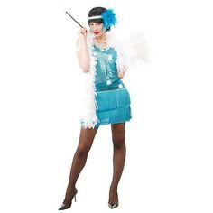 Kostým charleston - modrý > 38