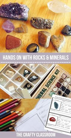 Rocks and Minerals Discovery Day. Ideas and printables for 6 different stations you can set up for hands on learning in your classroom! This would be great for large or small group instruction. 6th Grade Science, Preschool Science, Middle School Science, Elementary Science, Science Classroom, Teaching Science, Science For Kids, Science Activities, Science Projects