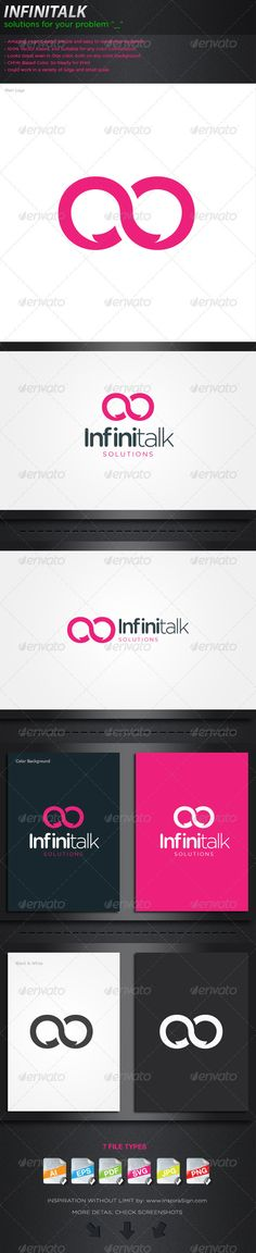 57a179e771a Infinitalk - Logo For your Social Company  GraphicRiver This brand is  suitable for every kind