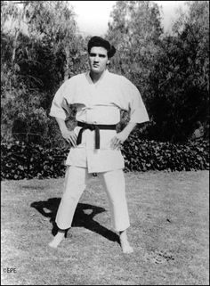 Elvis began karate while in the Army. He was an eighth degree black belt and his goal was to receive a 10th degree black belt - Grand Master (higest rank and takes 40 years of martial arts in order to recieive one.