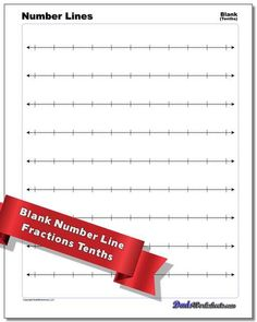 A printable number line is a great resource for teaching a wide variety of math topics. Numbers can seem very abstract, and many of the procedures we use to teach math operations are sometimes more formulaic. The printable number line PDFs on this page are designed for a variety of applications... Printable Number Line, Free Printable Numbers, Free Printable Math Worksheets, Printables, Positive Numbers, Negative Numbers, Multiplication Chart, Fractions Worksheets, Fraction Chart