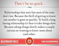 how to take things slow with a guy you really like