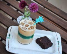 #gununkahvesi from me, home, homemade iced latte, cake, nespresso, monday coffee
