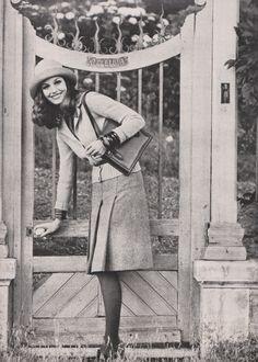 Yves Saint LaurentMarie Claire, August 1972Photographed by Helmut Newton