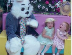 Fear the Easter Bunny?! Link to Easter Trauma photo site ... Some of the bunnies ARE downright scary!