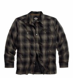A style that has stood the test of time. | Harley-Davidson Men's Plaid Shirt Jacket with Quilted Lining