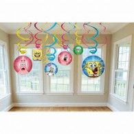 SpongeBob Hanging Swirl Value Pack Party Suppliers, Spongebob Squarepants, Balloons, Holiday Decor, Frame, Ocean, Decorations, Picture Frame, Globes