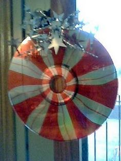 Recycled CD Ornament