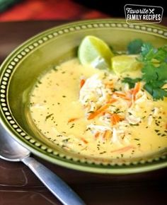 Thai Coconut Soup is full of sweet coconut, tangy lime and tender chicken. You'll love the bursts of sweet and savory flavor in this unique soup. Side Dishes Easy, Side Dish Recipes, Fish Recipes, Seafood Recipes, Soup Recipes, Chicken Recipes, Recipies, Thai Coconut Soup, Coconut Lime Chicken