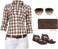 """Summer Brown"" by styleofe on Polyvore"