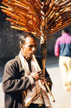 Street Piper in Pokhara, Nepal