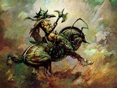 Fantasy Wallpaper: Frank Frazetta - Horseman
