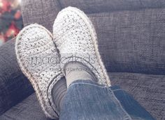 Crochet pattern men basic clogs with rope solessoles pattern