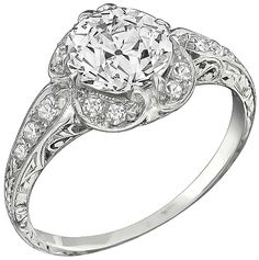 GIA Certified 1.53ct Diamond Engagement Ring Photo 1