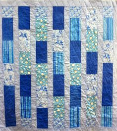 Tutorial for diagonal quilting on a bricks quilt