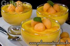 Hoje a dica é levinha, refrescante e fácil. É a saborosa Mousse de Melão Diet, huumm e tem acentuado sabor a melão!  #Receita aqui: http://www.gulosoesaudavel.com.br/2013/11/15/mousse-melao-diet/