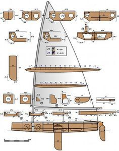 Laser Sailboat, Sailboat Plans, Model Sailboats, Small Sailboats, Wooden Model Boats, Wood Boats, Plywood Boat Plans, Wooden Boat Plans, Yacht Design