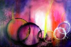 """Burn Abstract painting by Randall Marmet'. This painting is one of my favorites, the colors are mesmerizing in the way they blend. Immerse yourself and get lost in color! 24""""x 36"""" x 1 3/8"""" deep hand stretched gallery quality canvas. Original acrylic fine art painting, hand painted and clear coated with archival artists varnish for protection against dust and abrasion. $330.00 USD. To acquire this painting: http://marmetfineart.com/products/burn-abstract-art"""