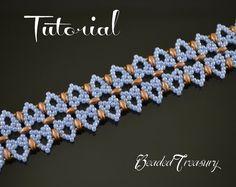 Dream of Venice - superduo bead pattern, beaded lace bracelet pattern, seed…