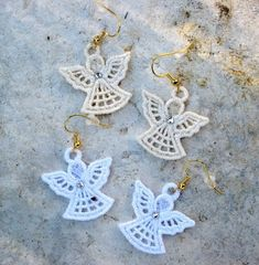 Crochet Christmas angels set of 3 Christmas tree decorations Angels applique - Anna Harms - - Crochet Christmas angels set of 3 Christmas tree decorations Angels applique - Anna HarmsCollection of Crochet Angel Free Patterns & Tutorials: Crochet Gran