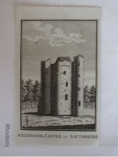 Antique Copper Engraving of Killingcool Castle In Louthshire. Believed to date circa Authentic uncoloured Georgian Antique Print on laid paper - not a modern reproduction Antique Prints, Vintage Prints, Vintage Decor, Retro Vintage, Georgian Era, Antique Copper, Decoration, 18th Century, Ireland