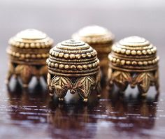 Maharaja Antique Gold Plated Pewter 10mm Bead by BobbiThisnThat, $5.60