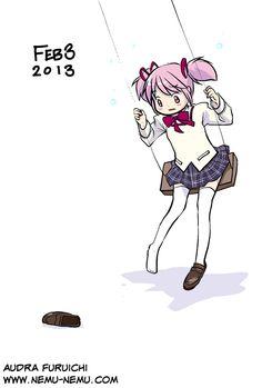 [Sketch] 2013.02.03 - Madoka Kaname (Madoka Magica)