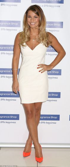 Fashion scents: Sam Faiers looked stunning in a form-fitting white dress as she stepped ou...