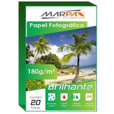 (4) Papel Fotográfico 180g/m² Brilhante A4 - 20 Folhas - R$ 5,80 no MercadoLivre