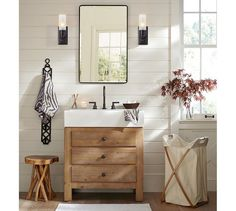 Mason Reclaimed Wood Single Sink Console - Wax Pine finish | Pottery Barn