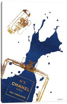 Chanel Wall Art, Canvas Prints & Paintings   iCanvas Chanel Wall Art, Chanel Canvas, Chanel Decor, Chanel Print, Gold Aesthetic, Black And White Aesthetic, Blue Perfume, Perfume Bottles, Chanel Wallpapers