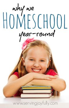 "One of the beautiful things about homeschooling is the flexibility it offers. Just one of the reasons this mom homeschools year round.   ""I never thought I would homeschool year round, but the reasons just kept piling up...here are a few of them."""