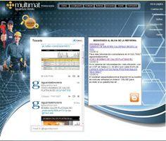 """WEB PROMOCIONES Multimat. Sección """"NOTICIAS""""  twitter  + blog de la reforma"""