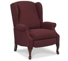 Lane Furniture - Hampton High Leg Recliner Chair - 2581-Ditzy Shell Burgundy-FASTLANE